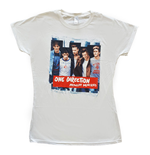 T-shirt One Direction pour Femmes: Midnight Memories Strips