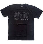 T-shirt AC/DC Unisexe: Back In Black