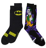 Chaussettes 2 Paires Batman Symbol and Joker Character