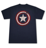 T-shirt CAPTAIN AMERICA Distressed Shield Logo
