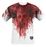 T-shirt The Walking Dead: Walkers In Face Stain Full Printed (Unisexe)