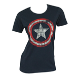 T-shirt CAPTAIN AMERICA Distressed Shield