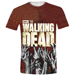 T-shirt The Walking Dead: Hands Logo Full Printed (Unisexe)