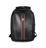 "Sac à Dos Ferrari On Track - 15"" With Usb Connector For Powerbank Black"