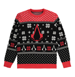 Pull-over de Noël pour Hommes ASSASSIN'S CREED Logo Crest with All-Over Xmas Design, Taille M