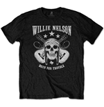 T-shirt Willie Nelson  unisexe - Design: Skull