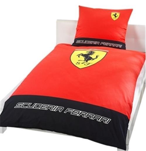 parure housse de couette classic logo ferrari pour. Black Bedroom Furniture Sets. Home Design Ideas