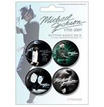 Pack Badges bleu Michael Jackson