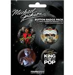 Pack Badges Michael Jackson-King Of Pop-Badge