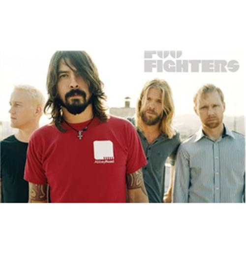 Poster Foo Fighters-White