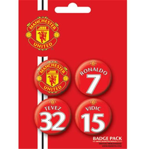 Pack Badge Manchester United-Players1