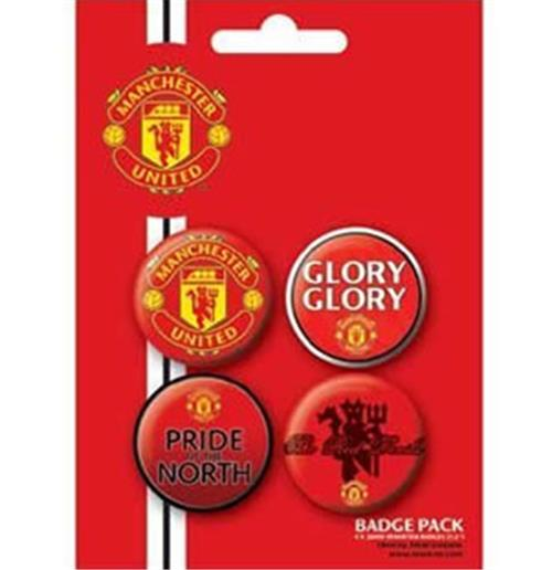 Pack Badge Manchester United-Glory Glory