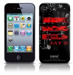 Coque Skin iPhone 4G Jay Z - Red Logo. Produit officiel Emi Music