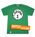 T-shirt Dr. Seuss Inspired Drunk 1 Décapsuleur