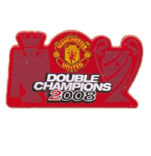 Manchester United FC Badge Double Champions