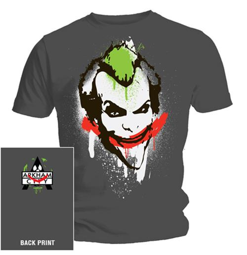 T-shirt Batman Joker Graffiti. Produit officiel Emi Music
