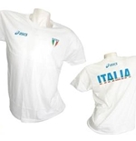 T-shirt Italie Volley-ball Fun Blanc