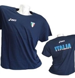 T-shirt Italie Volley-ball Fun Bleu