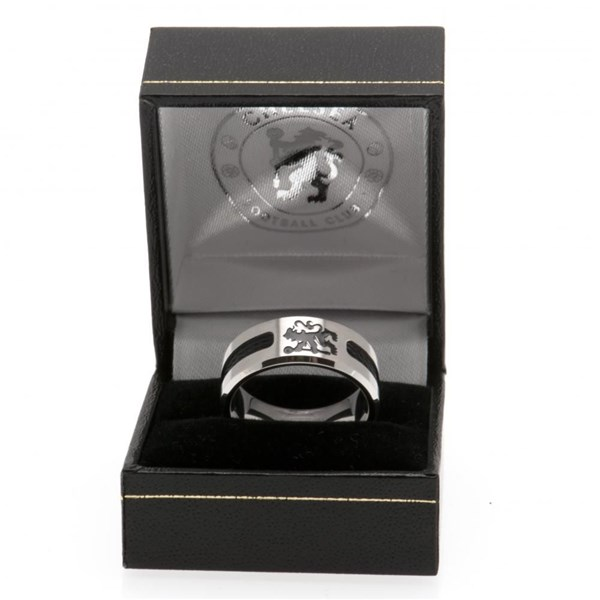 Chelsea FC Bague Inlay Noire - Small