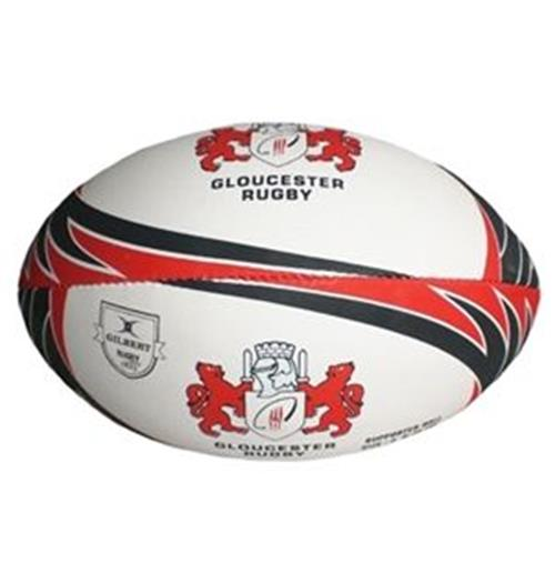 Ballon rugby Gloucester supporter