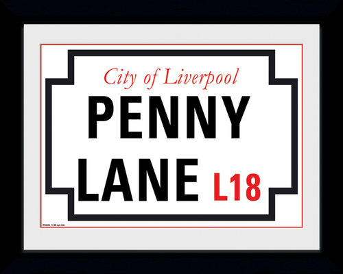 Photographie d'art encadrée The Beatles Penny Lane