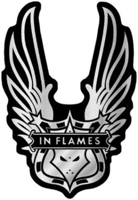 Patch In Flames Logo Ailes Cut Out