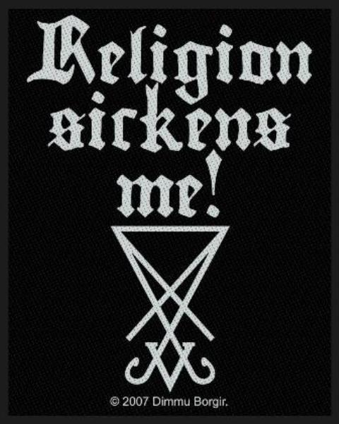 Patch Dimmu Borgir - Religion Sickens ME!
