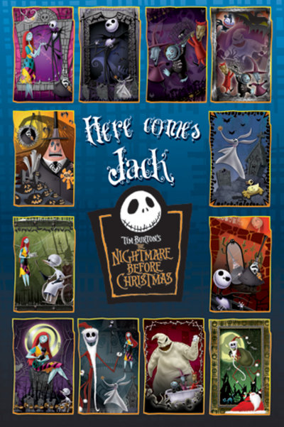 Poster Nightmare Before Christmas Collage