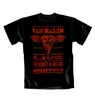 T-shirt Van Halen Whiskey. Produit officiel Emi Music