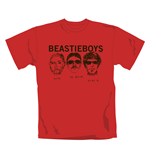T-shirt Beastie Boys Red Faces. Produit officiel Emi Music