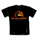 T-shirt Logo Mortal Kombat. Produit officiel Emi Music