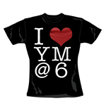 T-shirt You Me At Six I Heart. Produit officiel Emi Music