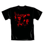 T-shirt The Clash Band Gun. Produit officiel Emi Music