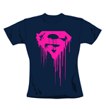 T-shirt Superman Navy. Produit officiel Emi Music