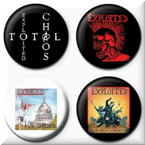 Paquet de 4 badges The Exploited