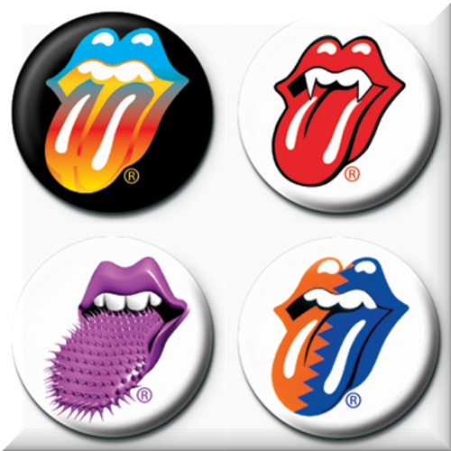 Pack 4 badges Les Rolling Stones