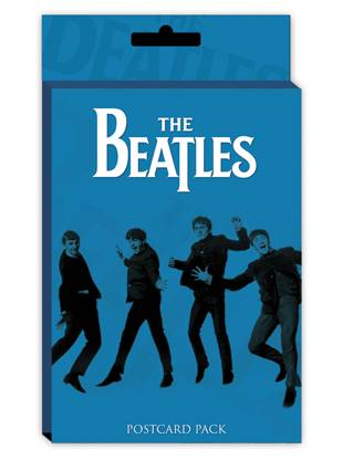 Paquet de 10 cartes postales The Beatles - bleu