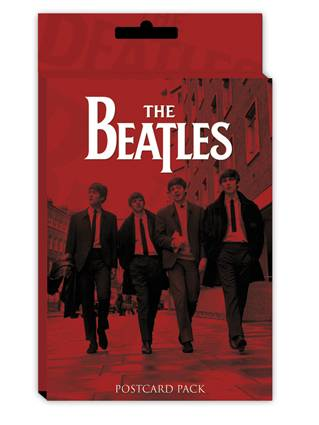 Paquet de 10 cartes postales The Beatles - rouge