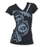 T-shirt femme Sons of Anarchy Cover-up