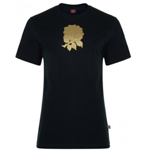 T-shirt Coton Angleterre rugby 2012-13 (noir)
