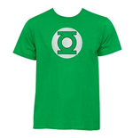 T-shirt Green Lantern Distressed Logo Kelly